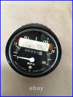 1972 Suzuki Ts90 Ts 90 Speedometer Without Harness Oem Nos 34100-25610