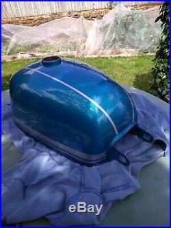 Blue/Silver Suzuki B120P Petrol tank (NOS)