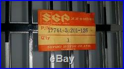 Genuine OEM NOS Suzuki Radiator Grill 17761-31201-126 (Bin-C) GT750