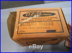 NOS GEM V-4 Reed Manifold Suzuki TM250 G5190