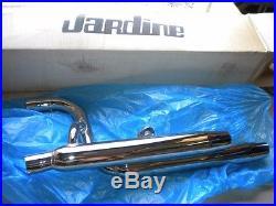 NOS Jardine Taper Tip Chrome Dual Exhaust Muffler Suzuki Intruder 700 750 800