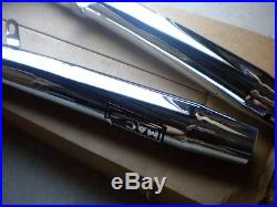 NOS Mac Taper Tip Slip on Duals Exhaust Muffler Chrome Taper Tip Suzuki GS1000