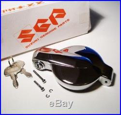 NOS Suzuki Chrome Gas Cap & Keys oem gt750 gt550 gt380 gt250 t500 ts400 ts250