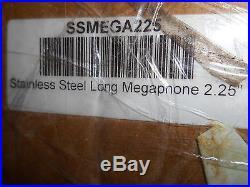 NOS Suzuki Stainless Steel Long Megaphone Exhaust Pipe Muffler Busa SSMEGA225