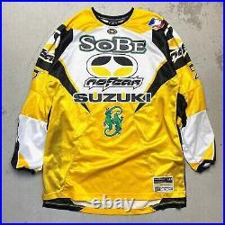 NOS Vintage 2003 No Fear Travis Pastrana Sobe Suzuki Motocross Jersey Medium