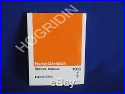 N O S 1959 1969 Harley shovelhead panhead electra glide service manual