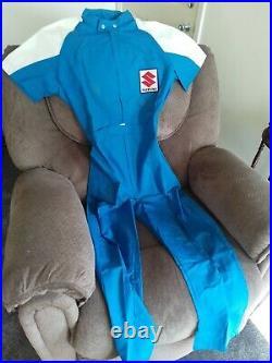 New NOS Vintage Suzuki Pit Crew Mechanics Suit Suzuki Wes Cooley Mechanics Suit