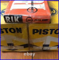 New Old Stock Suzuki T20 Piston Kit 4th Over 1.0 Pistons Pins Clips Rings