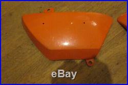 Nos Suzuki 1971 1976 Ts125 Tc125 R/h L/h Pair Side Panels Covers Enduro Orange