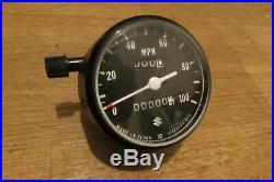 Nos Suzuki Ts125 Tc125 Ts185 Speedometer Speedo Clock Two Stroke