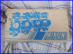 RARE! NOS Mikuni 33mm Smoothbore Carburetors, Kawasaki, Suzuki, Brand New