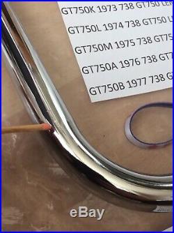 SUZUKI GT750 72-77 NOS REAR GRAB BAR RAIL IN BAG PT NO 94710-31000 slight mark