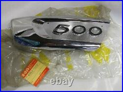 SUZUKI T500 NOS battery side cover emblem 1972 T500J 47261-15600