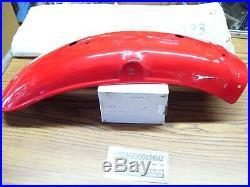 Suzuki 74-75 TS250 TS400 TS 250 400 NOS Rear Fender Mudguard OEM Marble Scarlet