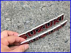Suzuki GT185 GT250 GT380 GT550 T350 Tank Badges Emblem NOS Genuine 68111-33000