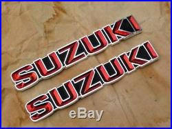 Suzuki GT185 GT250 GT380 GT550 T350 Tank Badges Emblem NOS Japan P/N 68111-33000