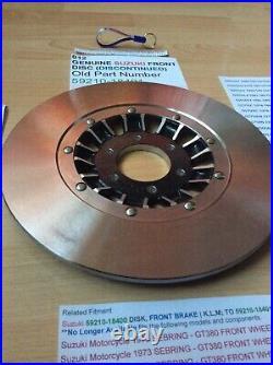 Suzuki Gt250 Gt380 Gt500 Gt550 Gt750 Nos Brake Disc New 59210-18400 59210-18401