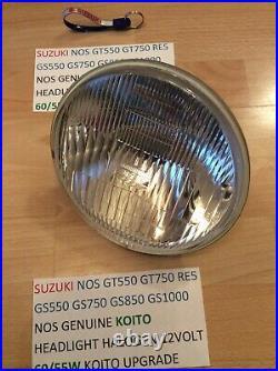 Suzuki Gt550 Gt750 Re5 Gs550 Gs650 Gs750 Gs1000 Nos Koito Headlight Halogen