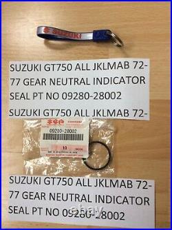 Suzuki Gt750 74-77 Lmab Re5 Nos Gear Indicator 37710-31212 Oil Seal 09280-28002