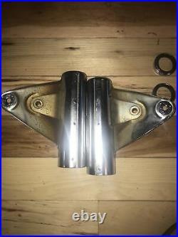 Suzuki Gt750 Gt550 Gt380 Gt250 Gt500 Chrome Fork Ears Nos
