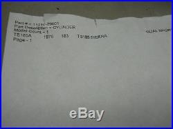 Suzuki NOS TS185, 1976, Cylinder, # 11210-29601 F