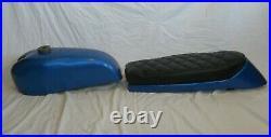 Suzuki NOS X6 Hustler 250cc GP KIT, Metalflake Blue, Fuel / Gas TANK & SEAT