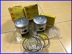 Suzuki T20 TC250 Piston&Ring Set 0.50 NOS Genuine Japan 12110-11720&12140-11702