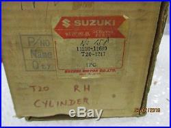 Suzuki T20 Tc250 Right Hand Cylinder Barrel Nos, Perfect Genuine Suzuki
