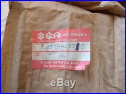 Suzuki TS100ERZ Exhaust System Matt Black 1982 NOS # 14310-48710/48770