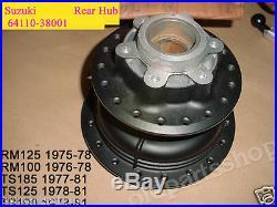 Suzuki TS100 TS125 TS185 RM100 RM125 Rear Wheel Hub NOS 64110-38001 RM125 RM 100