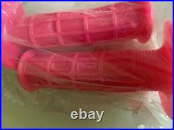 Vintage Motocross Nos Sunline Pink Debruzer Crossbar Pad + Pink Oury Orig Grips
